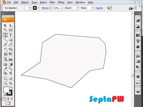 Belajar gambar topi keren dengan adobe illustrator
