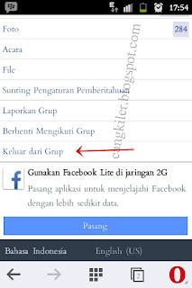 cara kluar dari group di facebook