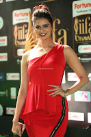 Meenakshi Dixit in Red One Shoulder Red Zipped up gown at IIFA Utsavam Award 74.JPG
