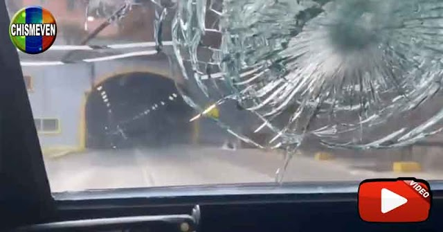 Así fue atacado el vehículo blindado del CICPC en El Cementerio