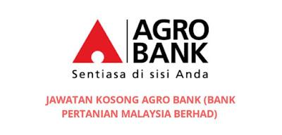 Jawatan Kosong Agro Bank 2019 (Bank Pertanian Malaysia Berhad)
