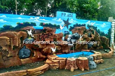 Jasa Tukang Kolam Dekorasi Relief Tebing Nganjuk | Jasa Pembuatan Relief Kolam Tebing Air Terjun di Nganjuk