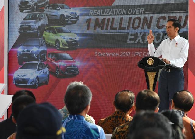 Lepas Ekspor Toyota Indonesia, Jokowi Dorong Industri Tingkatkan Ekspor dan Investasi