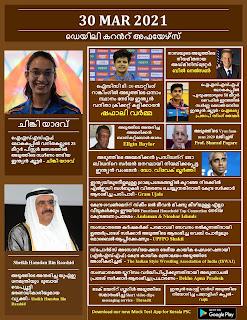 Daily Malayalam Current Affairs 30 Mar 2021