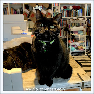 Crafting with Cats Catmas Special - Part 3  ©BionicBasil® Parsley was today's Craft Room Snoopervisor
