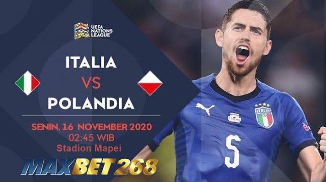 Prediksi Italia Vs Polandia, Senin 16 November 2020 Pukul 02.45 WIB @ Mola TV
