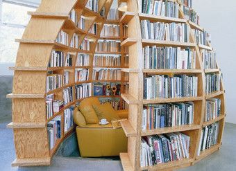 Oval Shape Book Shelf - Image: Pinterest Community