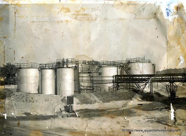 Photo noir et blanc : Les Mines de Saint Hilaire, Allier.