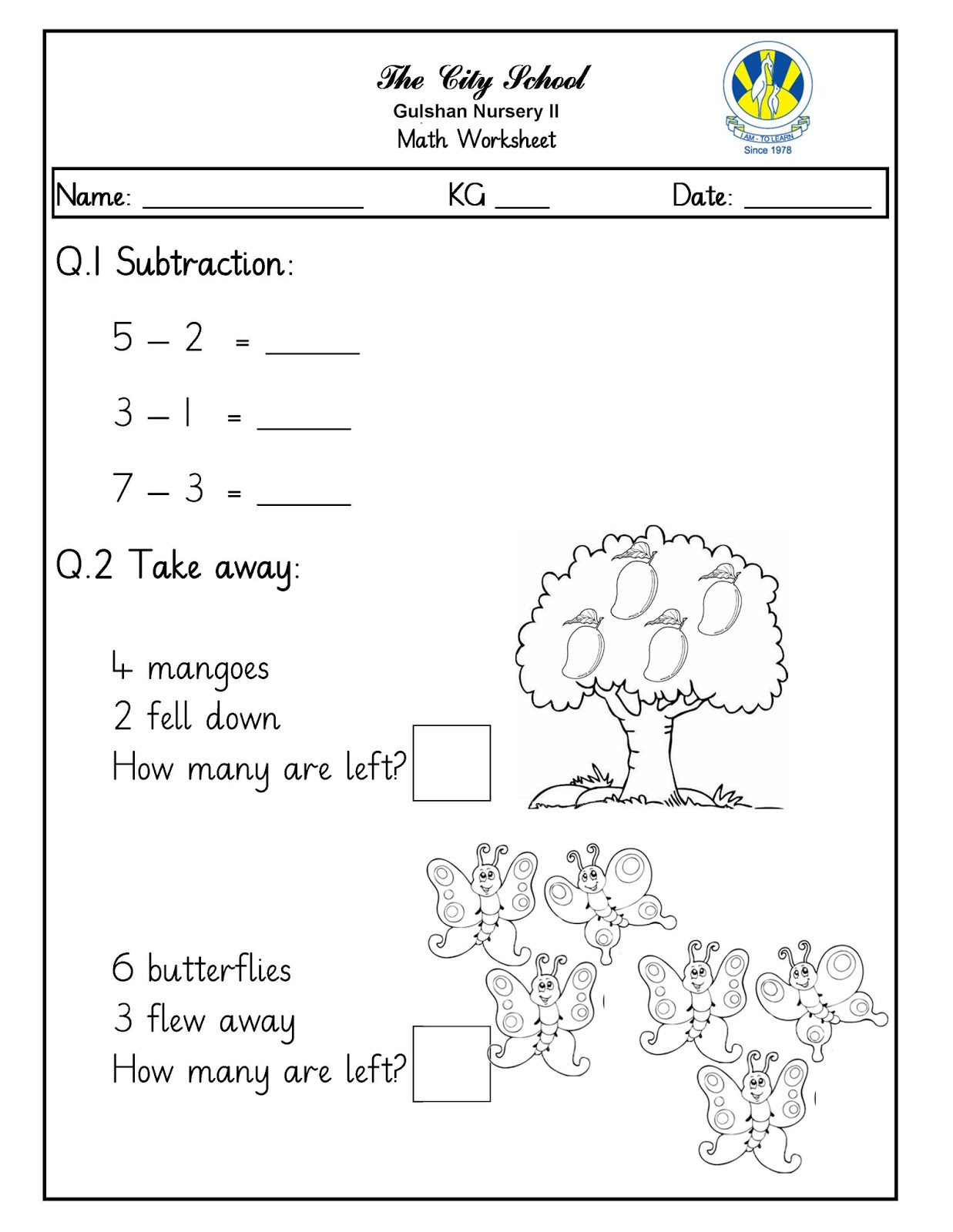 Sr Gulshan The City Nursery Ii Urdu Math Amp English Worksheets