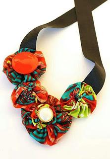 rosette Ankara neckpiece