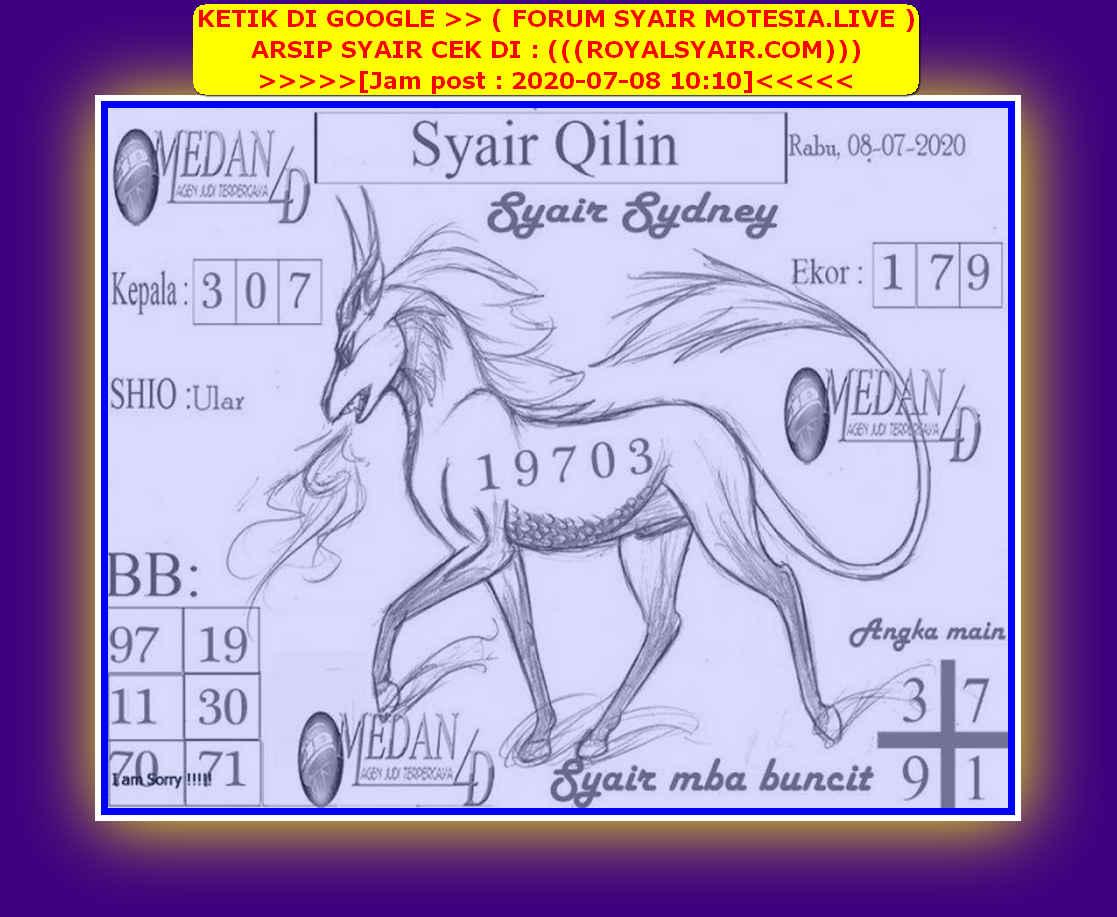 Kode syair Sydney Rabu 8 Juli 2020 150