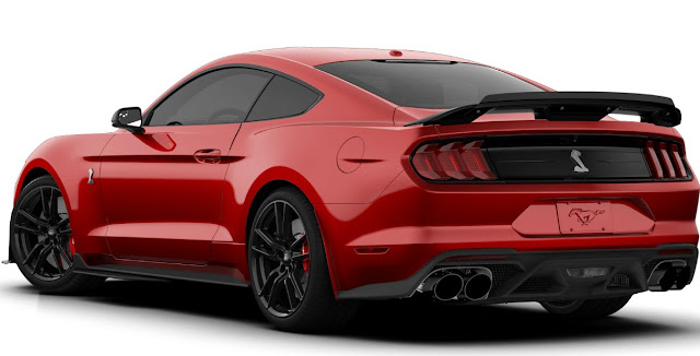 2020 Ford Mustang Shelby GT500 wing rear