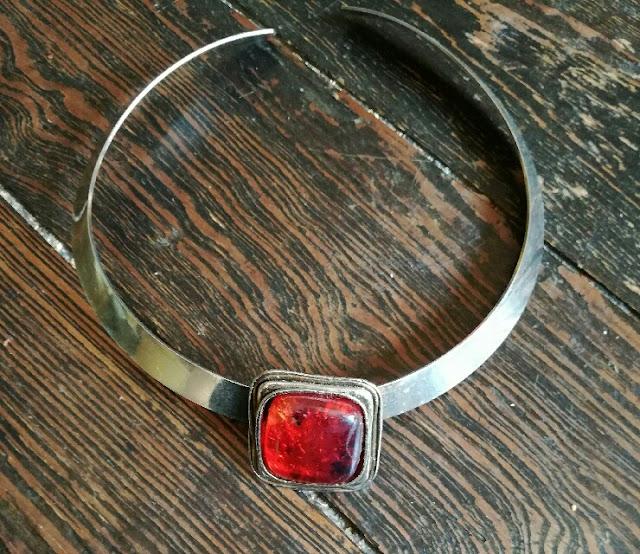 70s modernist necklace collier années 70 1970s