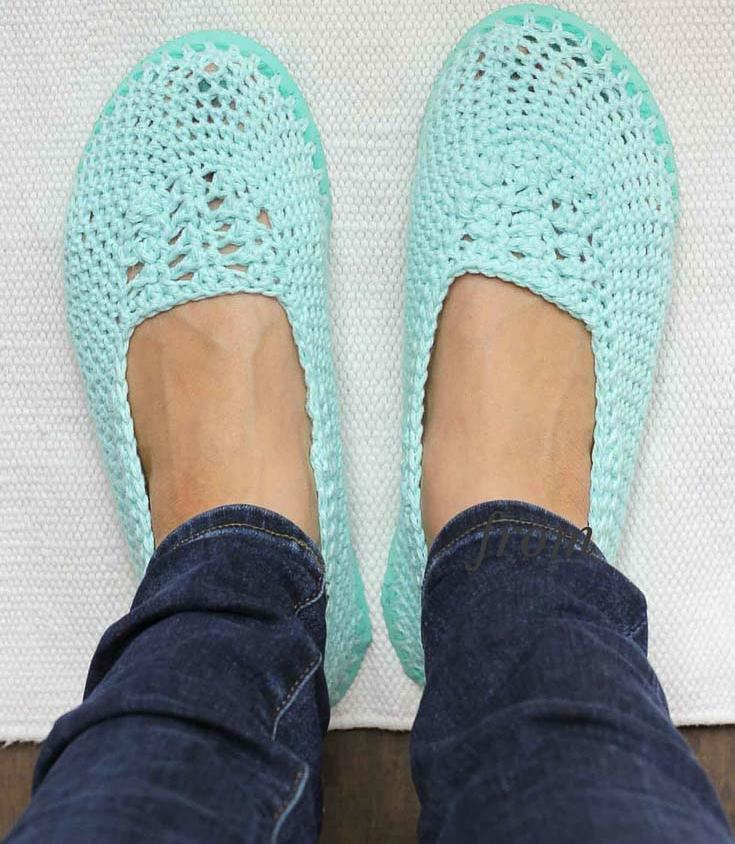 b3341085fa3b45 How To Make Crochet Slippers Using Flip Flop Soles - Handy DIY