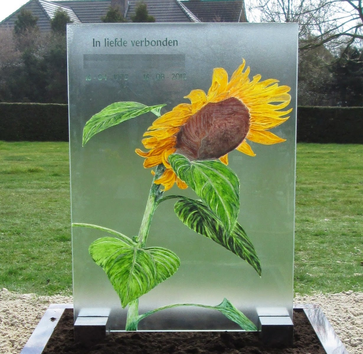 Grafmonument glas