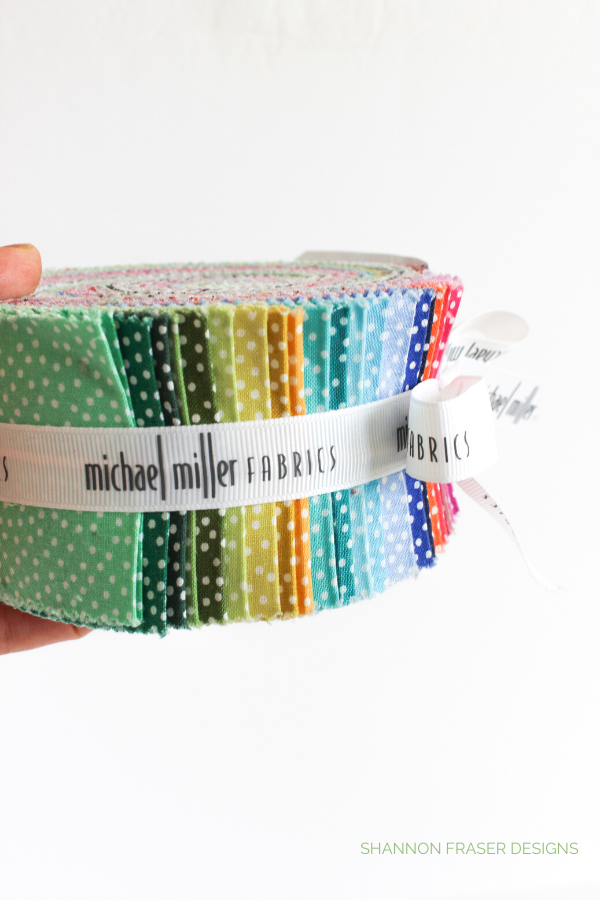 Michael Millers Jelly Roll | Honest state of a modern quilter's WIP List | Q1 2020 Finish-a-Long | Shannon Fraser Designs #modernquilter #worksinprogress #jellyroll #michaelmillerfabrics