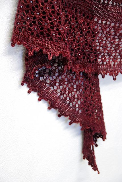 A beaded lace shawl to knit
