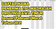 Download Daftar Lampiran Guru Penerima Tunjangan Profesi Guru Yang Sudah Di Verikasi Provinsi Jawa Timur Tahun 2021