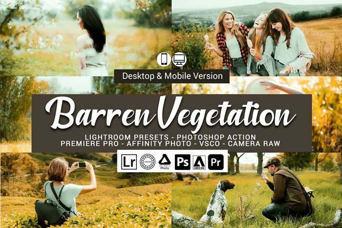 Barren Vegetation Lightroom Presets