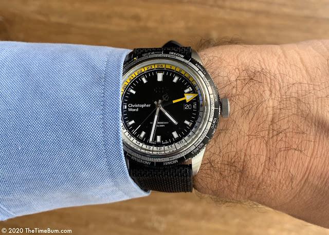 Christopher Ward C65 GMT Worldtimer wrist