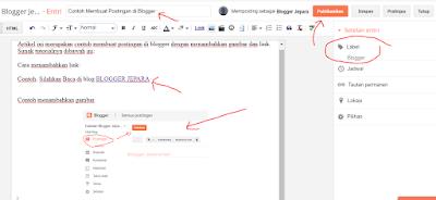 cara membuat postingan di blog blogger 6