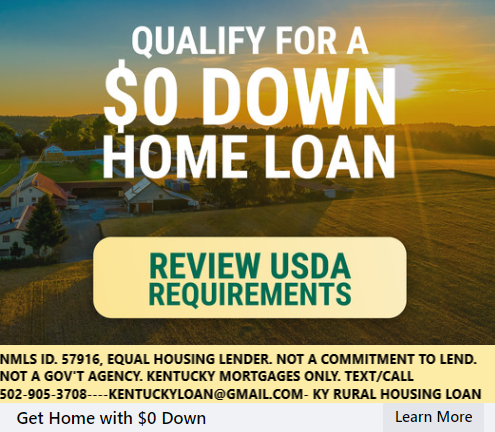 Kentucky USDA Mortgage Loan Requirements