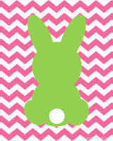 Free Bunny Printable Easter Art by PaperCharm