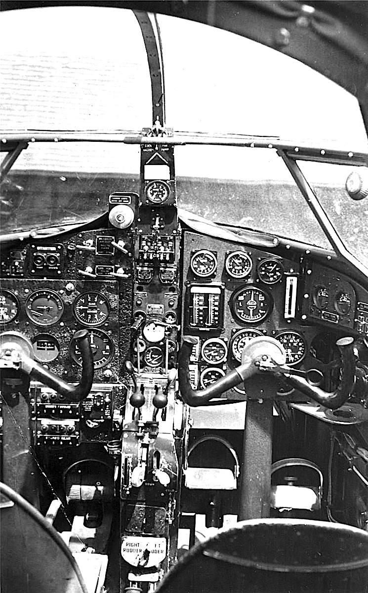 an airplane cockpit 1940? photograph