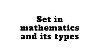 Set in mathematics