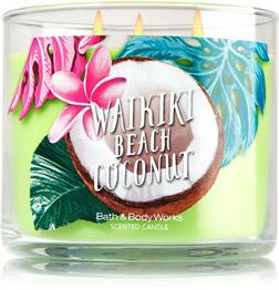 avis Waikiki Beach Coconut de Bath & Body Works, blog bougie, blog parfum, blog beauté