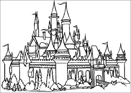 Coloriage Chateau Princesse Disney Liberate
