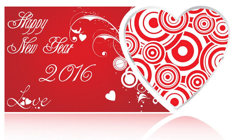 Heart Shaped Happy New Year Image 2016