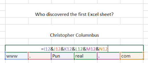 This excel pun is all about discovery.