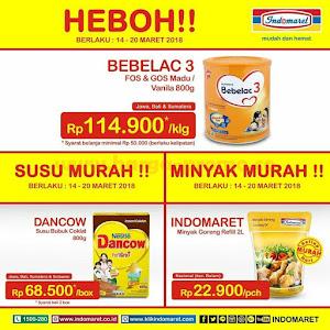 Promo Heboh Indomaret Susu Dan Minyak Murah 14 - 20 Maret 2018