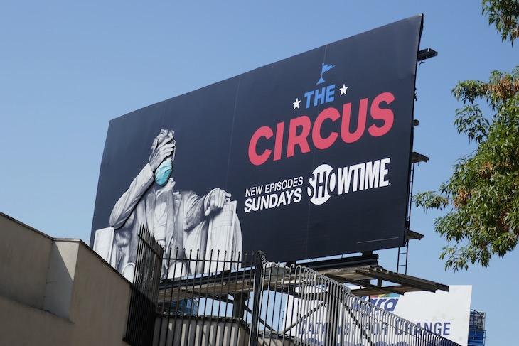 Circus Lincoln Memorial 3D mask billboard