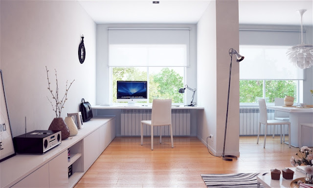Home Office For Surprising Home Office Desk Under Window