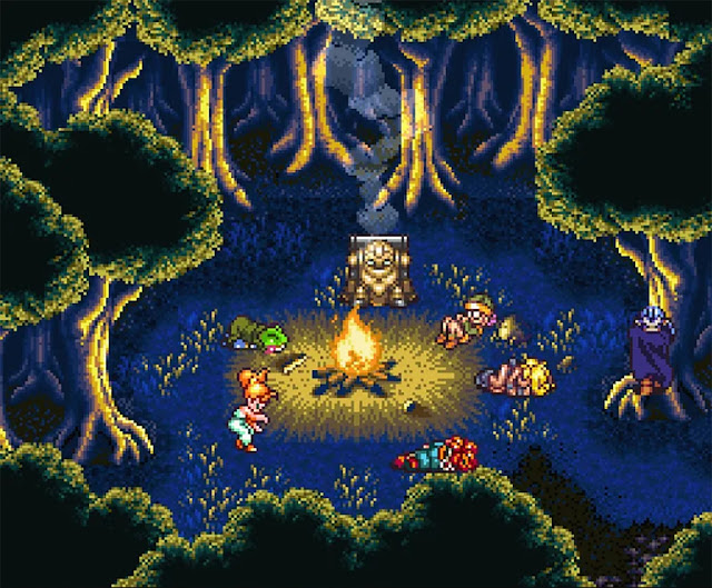 chrono trigger snes fire camp