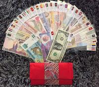 Bộ sưu tập tiền 52 tờ tiền của 28 nước