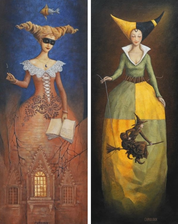 12-Night-Inspiration-And-The-Lady-And-The-Witch-Catherine-Chauloux-Paintings-of-Surreal-Worlds-and-Characters-www-designstack-co