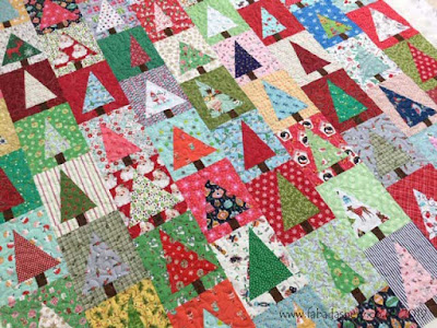 'Wonky Christmas Tree' quilt made by Mairi,  quilted by Frances Meredith, Fabadashery Longarm Quilting