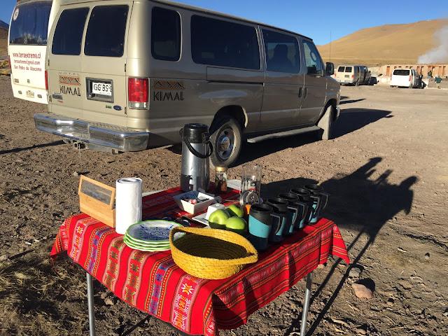 Café da manhã Geiseres del Tatio Atacama