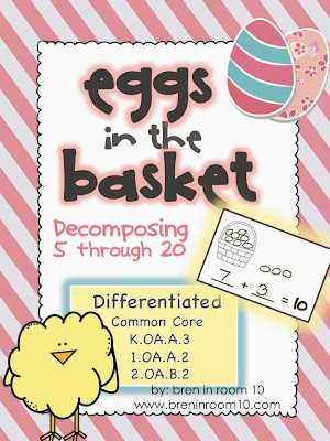 https://www.teacherspayteachers.com/Product/Decomposing-5-through-20-with-Eggs-in-the-Basket-1765467