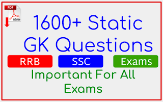 1600+ Static GK Questions In English For All Exams