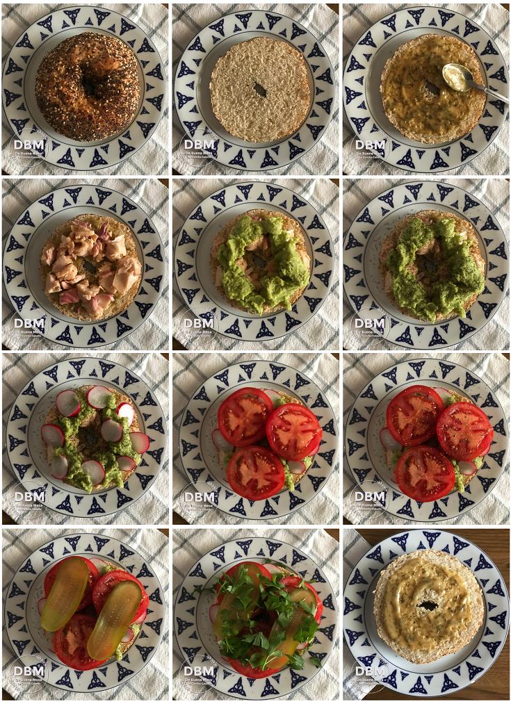 bagel-salmón-guacamole-pasos