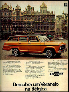 propaganda Veraneio - 1974. brazilian advertising cars in the 70. os anos 70. história da década de 70; Brazil in the 70s; propaganda carros anos 70; Oswaldo Hernandez;