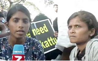 Kovai students take to streets protesting ban on jallikattu | News 7 Tamil