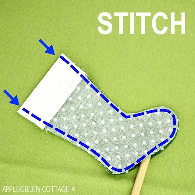 mini Christmas stocking tutorial
