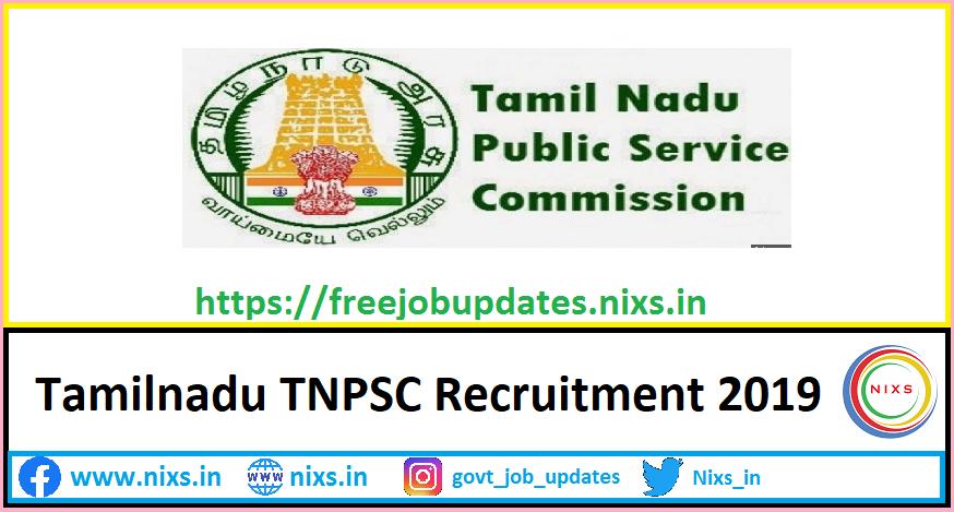 TNPSC Recruitment 2019 64 Junior Scientific Officer Posts – Apply