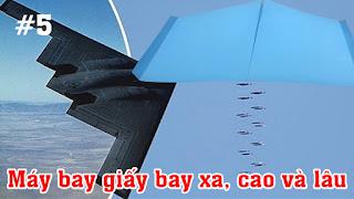 Cách gấp, xếp máy bay giấy cánh to phi xa, cao và lâu bằng giấy A4 ✈ Kiểu Origami #5