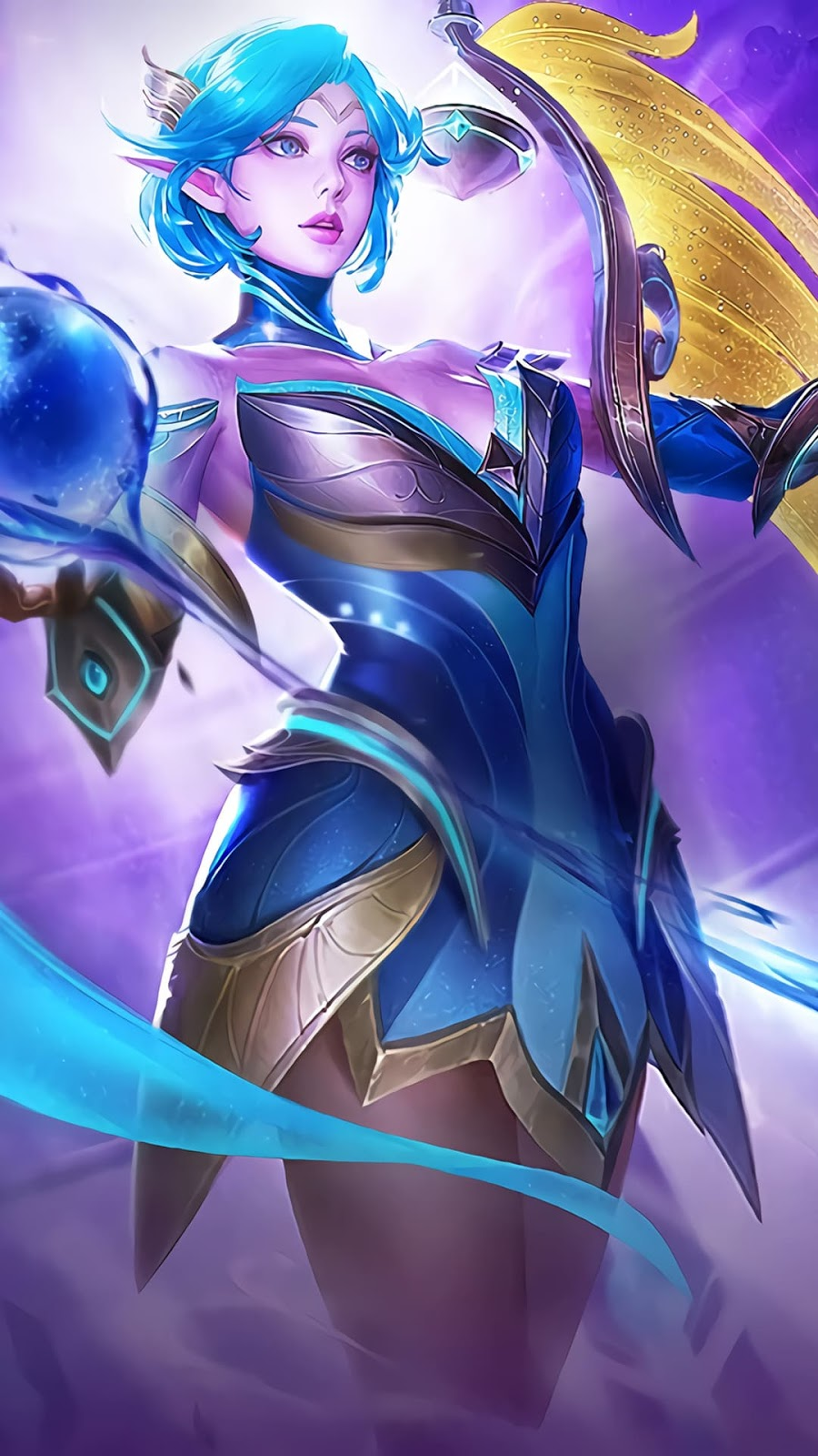 Wallpaper Lunox Libra Zodiac Skin Mobile Legends Full HD for Android and iOS